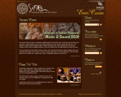 Microsite Design, set up and maintenance for SIFAS - Singpore Indian Fine Arts Society