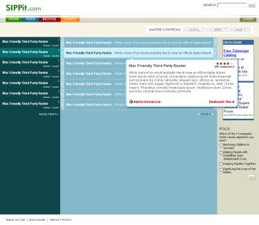 Web Design for SIPPit.com