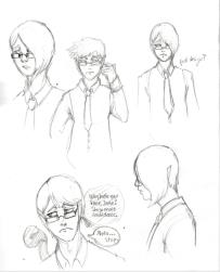 Concept sketches of Jake, Patient Zero.