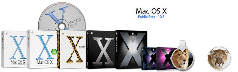 Mac OS X Over The Years (Public Beta 10.0 – 10.8 Mountain Lion)