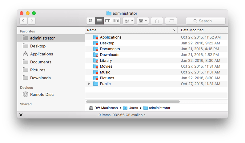 OS X Finder Sidebar Favourites Missing or Permission Issue