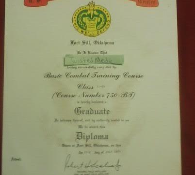 My Basic Training Certificate