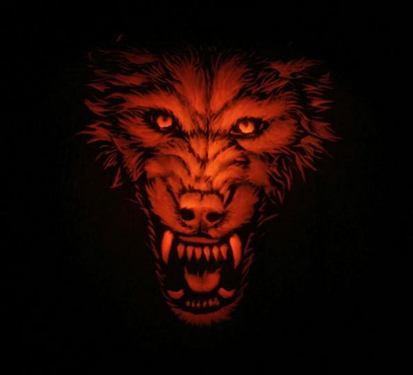 wolf-pumpkin