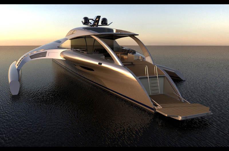 The Trimaran Adastra Superyacht By John Shuttleworth 17