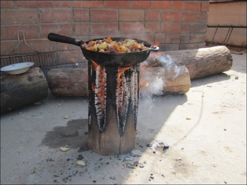 How To Make A Stove From A Single Log Twistedsifter