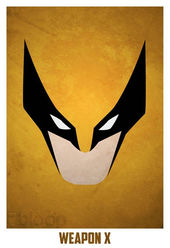 10 Gorgeous Minimalist Superhero Illustrations In Vibrant Superheroes And Villains Posters Twistedsifter