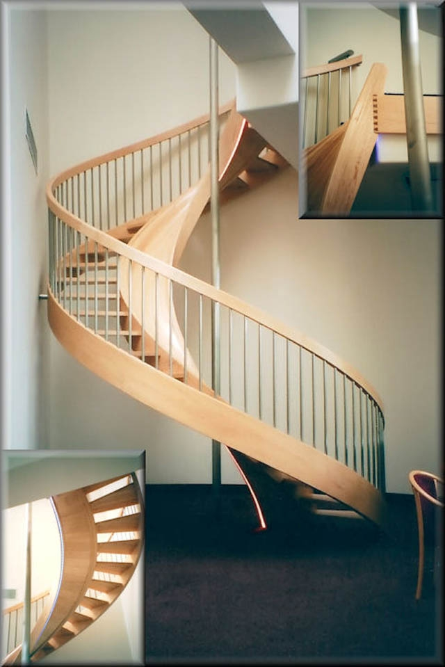 10 Awesome Stairs With Slides «Twistedsifter | Spiral Staircase Near Me | Steel | Local Handyman | Handrail | Curved Staircase | Staircase Design