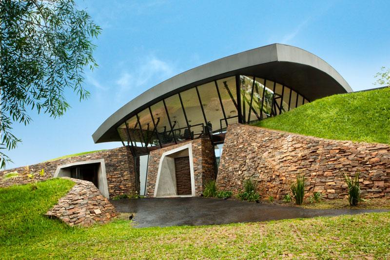 A Unique Hillside Home Built Into the Landscape TwistedSifter