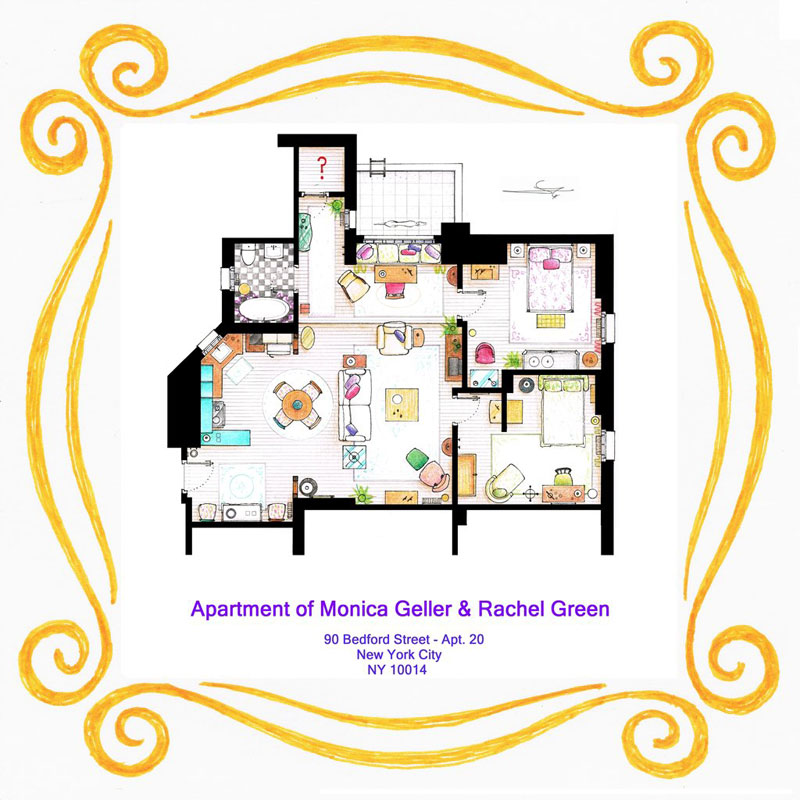 Detailed Floor Plans of TV Show Apartments TwistedSifter