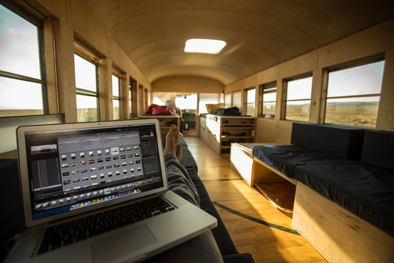 Student Converts School Bus into Mobile Home and Drives