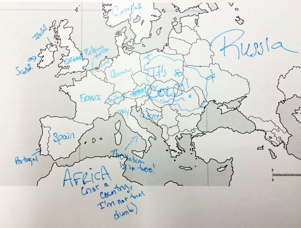 Europe According To American Students Americans Were