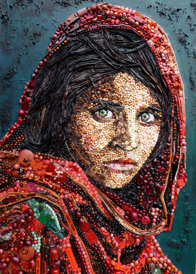 Famous Portraits Recreated Recycled Materials And Objects Twistedsifter