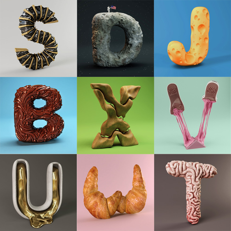 The Sculpted Alphabet by FOREAL TwistedSifter