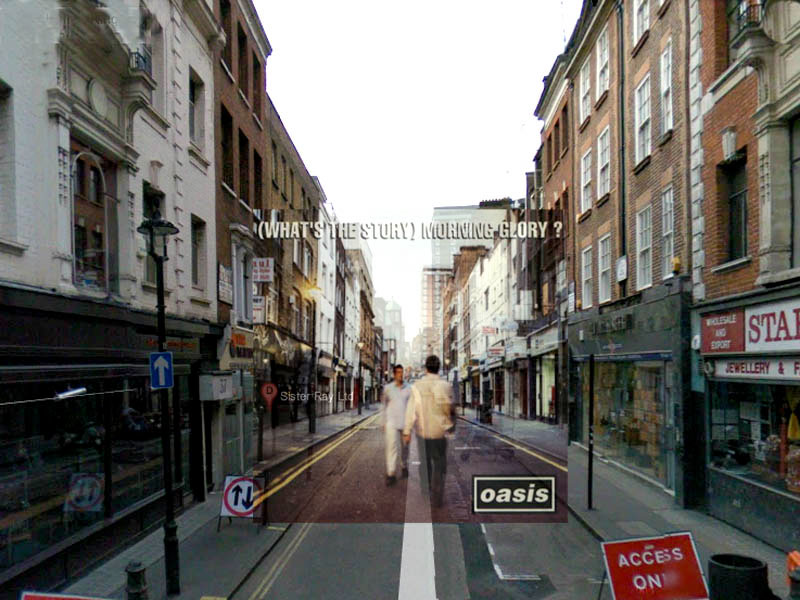 Famous Album Covers Superimposed Onto Their Actual