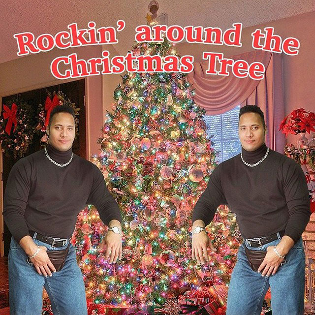 Picture Of The Day Merry Christmas From The Rock