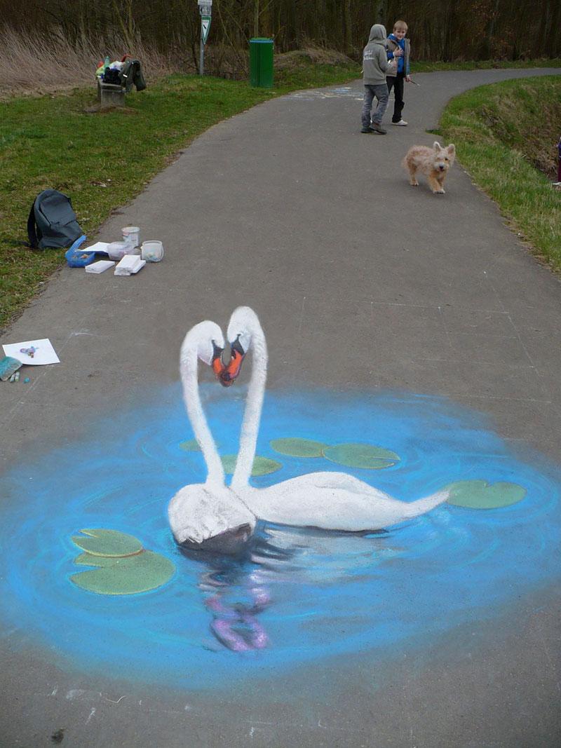 3d Sidewalk Paintings Nikolaj Arndt Twistedsifter
