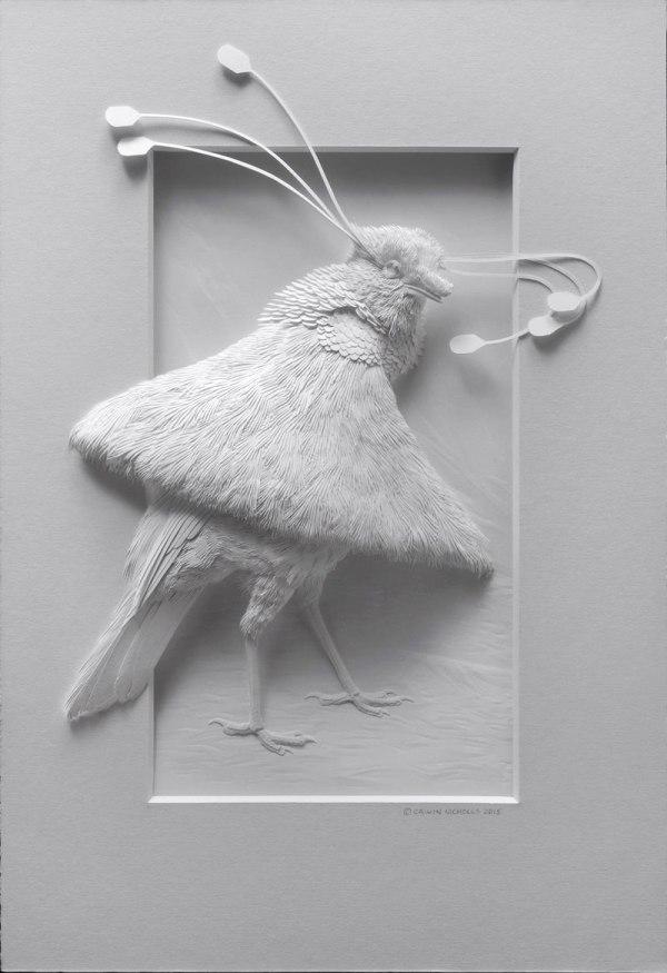 3d Paper Animal Sculptures Calvin Nicholls 13