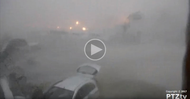 chilling footage shows hurricane