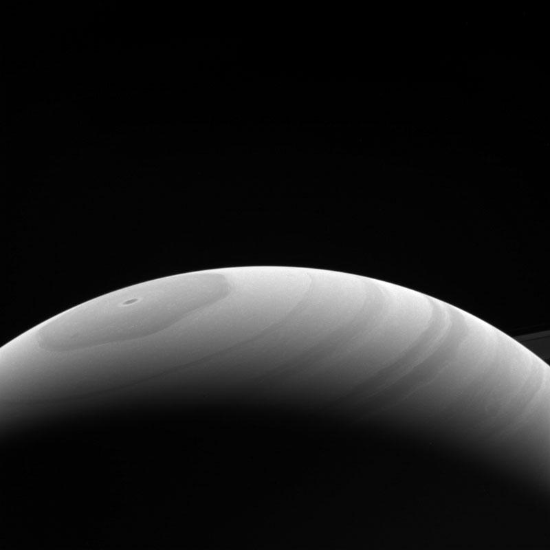 Crashes into Saturn Cassini