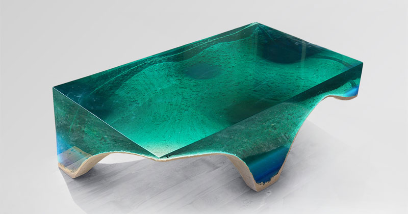 Artist Channels The Ocean Into One Of A Kind Tables Using