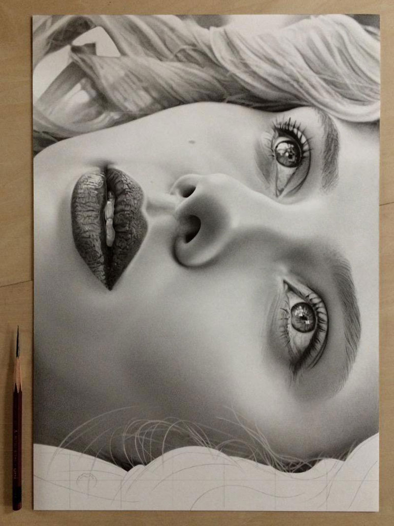 Highly Detailed Close-ups Of Amazing Hyper Realistic Pencil Drawings Twistedsifter