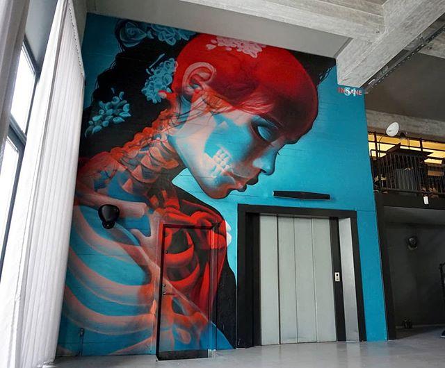 double exposure murals that