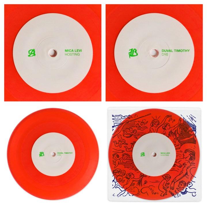 "Hosting /DYE 7"" vinyl."