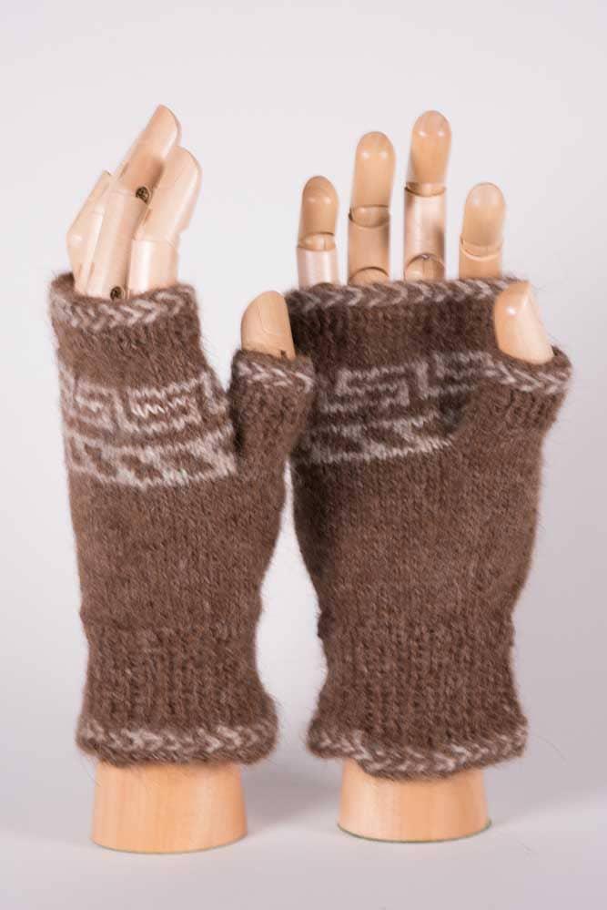 Fingerless Mittens : fingerless, mittens, Chocolate, Cream, Fingerless, Mittens, Twisted, Strait, Fibers