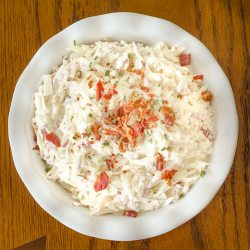 Shredded Potato Salad | Twisted Tastes