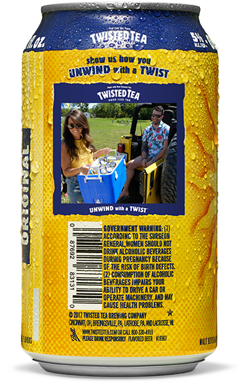 Twisted Tea Nutritional Information : twisted, nutritional, information, Raspberry, Twisted, Calories