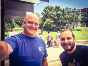 Erik and Quinton at Design Indaba