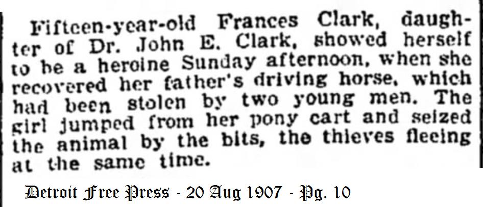 Clark, Frances - Heroine - 1907