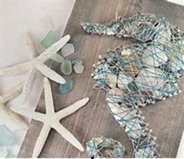 seahorse string art