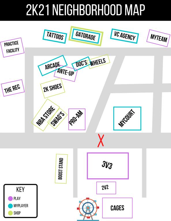 Un error en los servidores de NBA 2k21 amarga el estreno del juego, mapa del Barrio desvelado 2