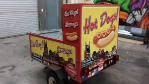 Custom vehicle wraps for food trucks and carts