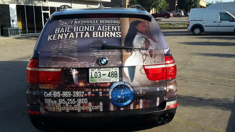 bail bond agent kenyatta burs vehicle wrap – Vehicle Wraps