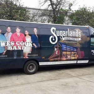 Tour bus vehicle wrap