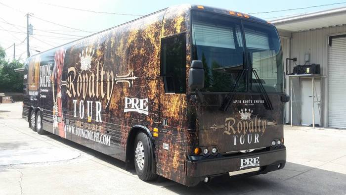 Tour Bus Wrap in Nashville