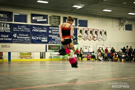 Twistin Vixens Hoop Dance Performance at SCAR Dolls Roller Derby