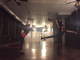 Practicing at Return Yoga