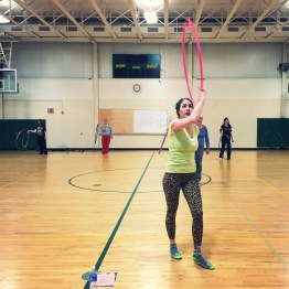 Kayla Teaching Spring Hoop Dance Class