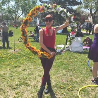 Amy with Flower Hoop