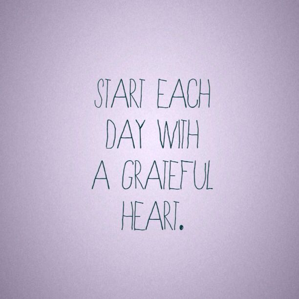 start each day with gratitude