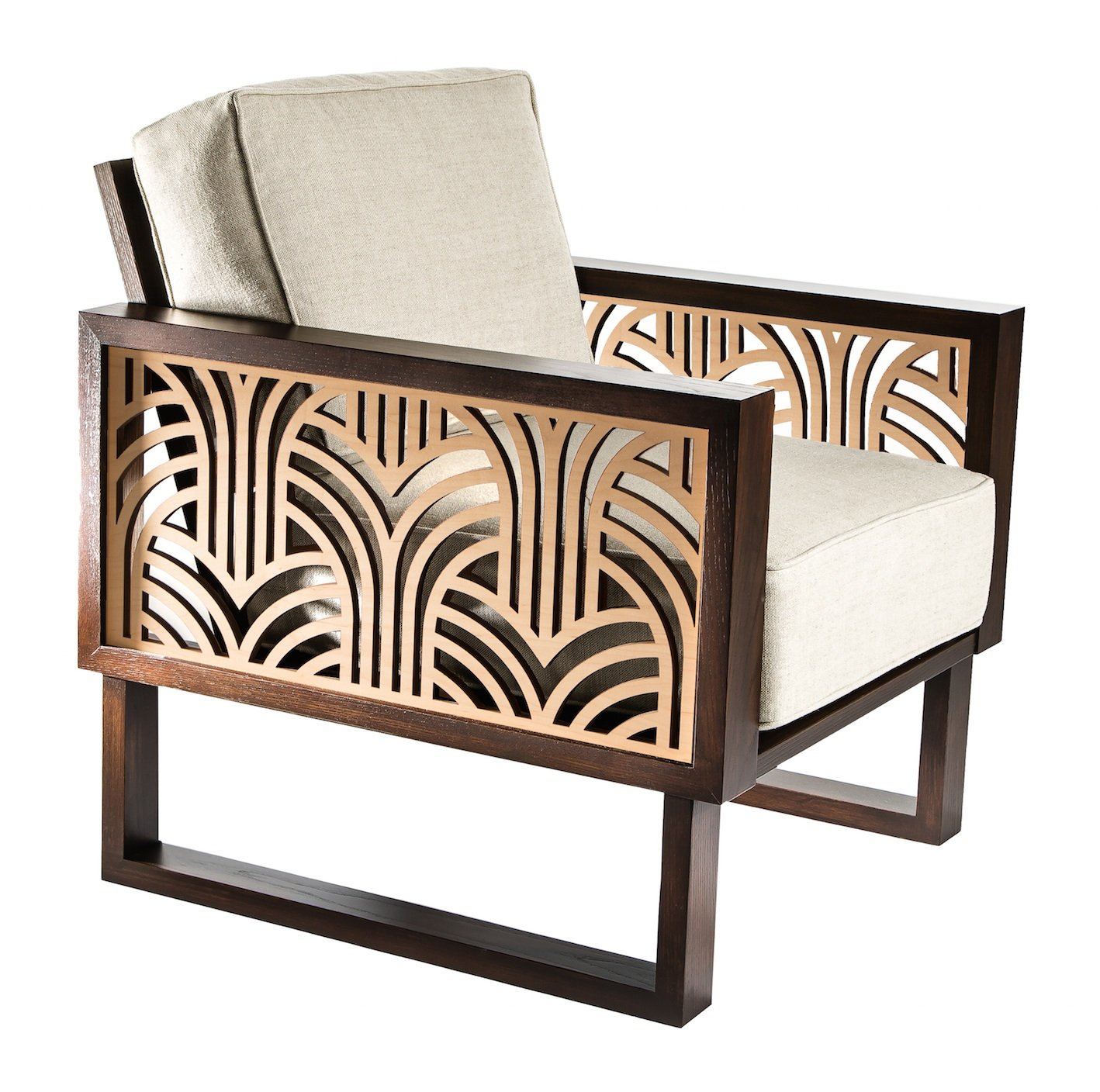 Art Deco Lounge Chair  Twist Modern