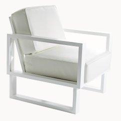 Modern White Leather Club Chair Brown Twist Lounge