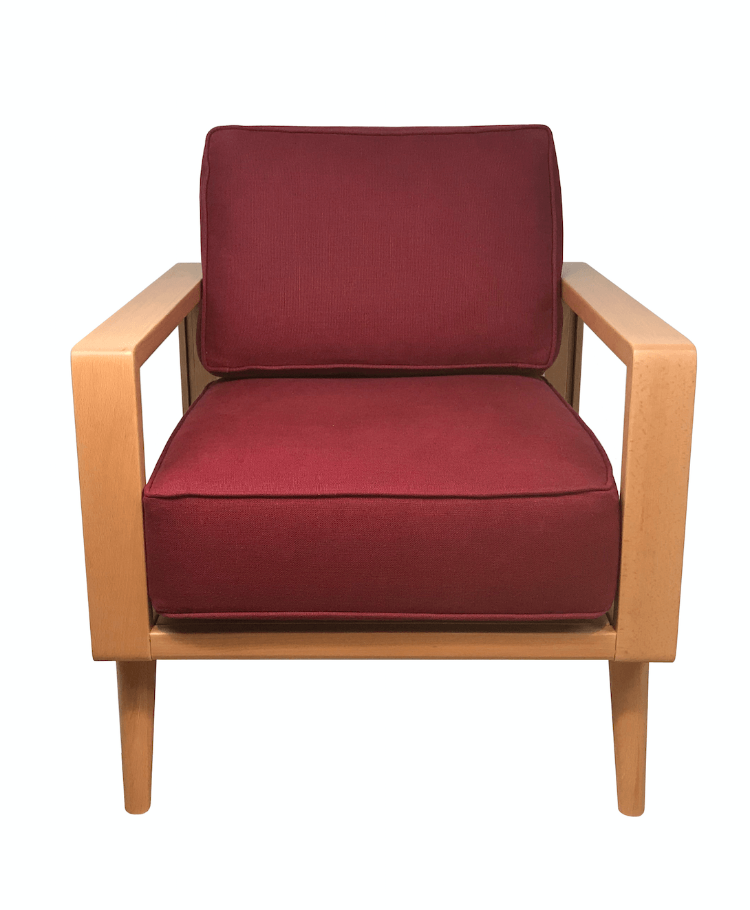 Modern Red Chair Natural Mid Century Modern Lounge Chair Wine Red Twist