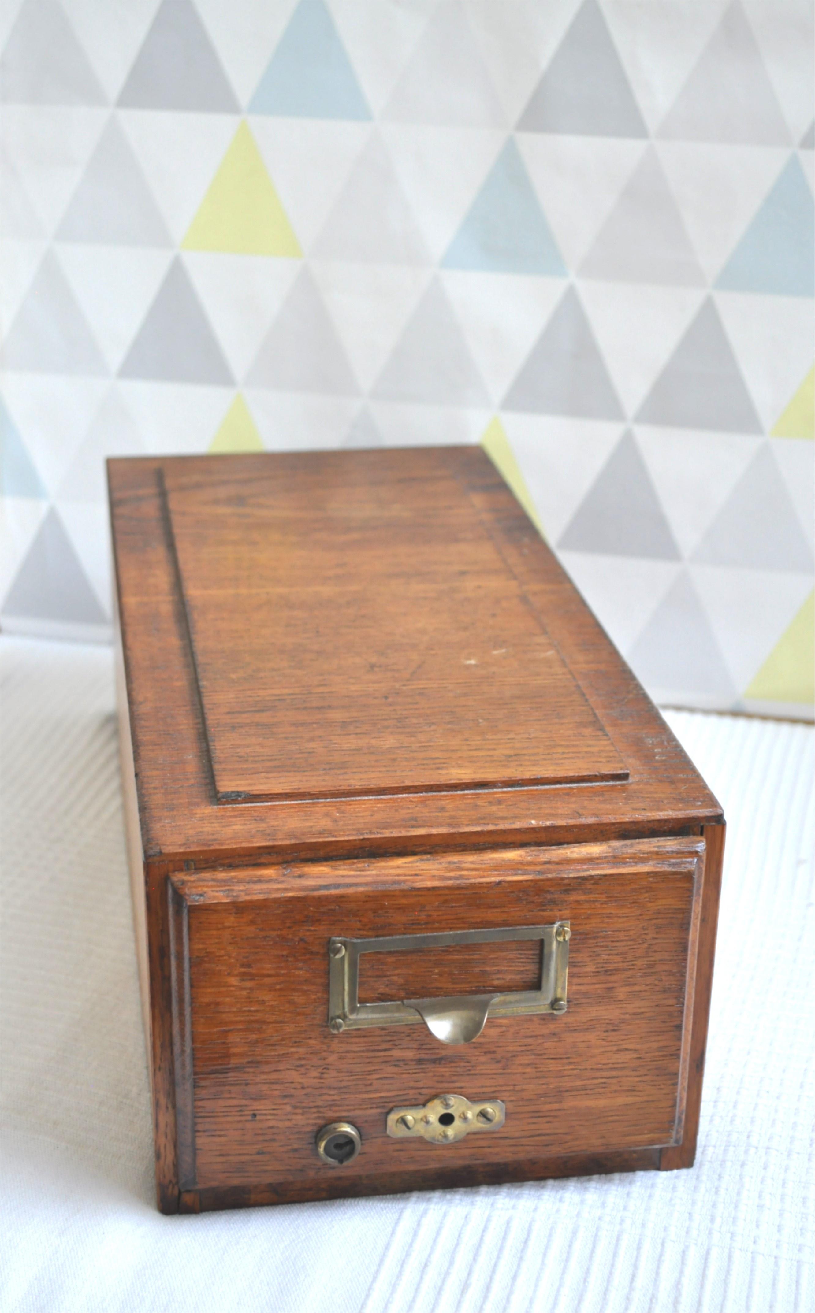 tiroir casier de rangement bois vintage twist n broc