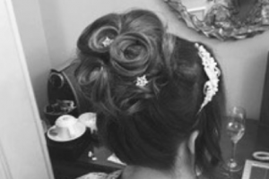 Bridal whirls updo