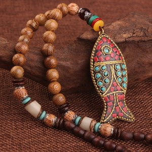 Tribal Bodhi Fish Necklace