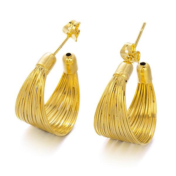 Tribal cooper hoop earrings
